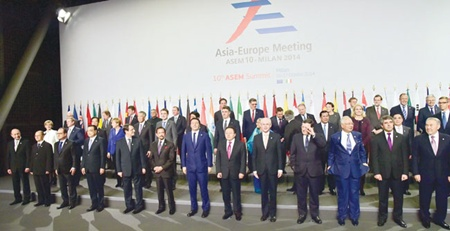 Prime Minister urges Asia and Europe to work together