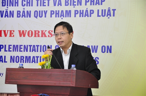 Workshop seeks input on draft decree to implement Law on Laws
