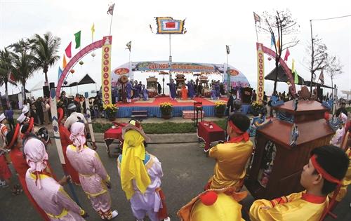 Sacred whale worship festival of Vietnamese seafarers