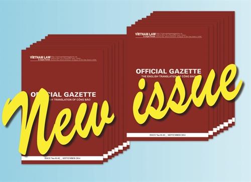 Official Gazette issues Nos 10-12 June 2016 released on September 12 2016