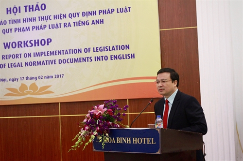 Workshop seeks consultation opinions on implementation of legal translation in VN