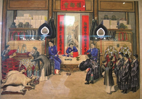 Measures to supervise six ministries under the Nguyen Dynasty