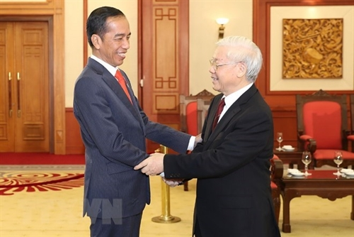 Party chief welcomes Indonesian President