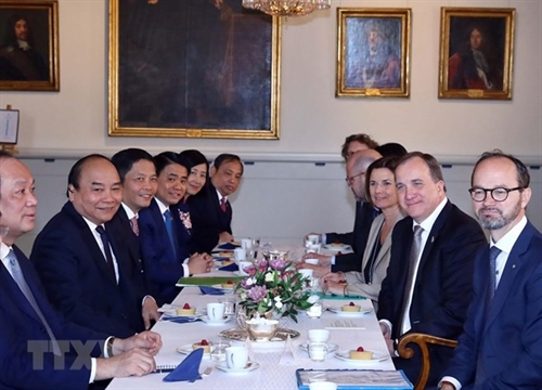 Vietnamese Swedish PMs hold talks