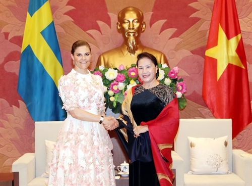 NA leader welcomes Crown Princess of Sweden in Hanoi
