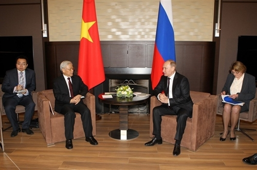 Leaders of VN Russia exchange congratulations on diplomatic ties