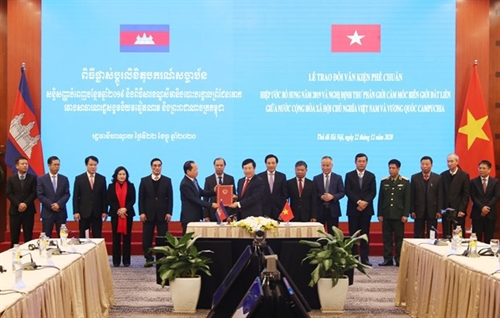 Legal documents on Vietnam-Cambodia border demarcation marker planting take effect