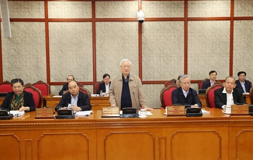Politburo discusses finalization of National Party Congress documents