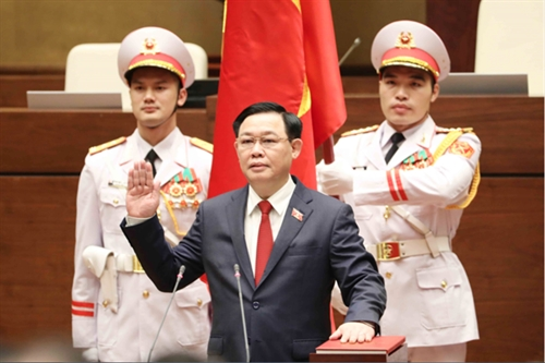 Vuong Dinh Hue elected as Chairman of NA National Election Council
