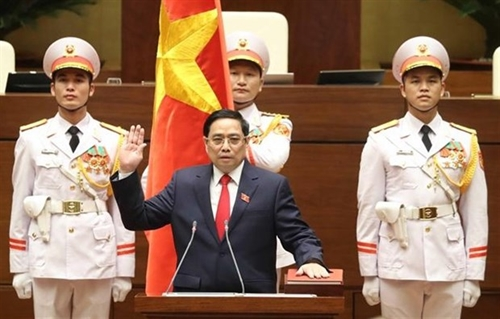 Prime Minister Pham Minh Chinh swears in at National Assembly